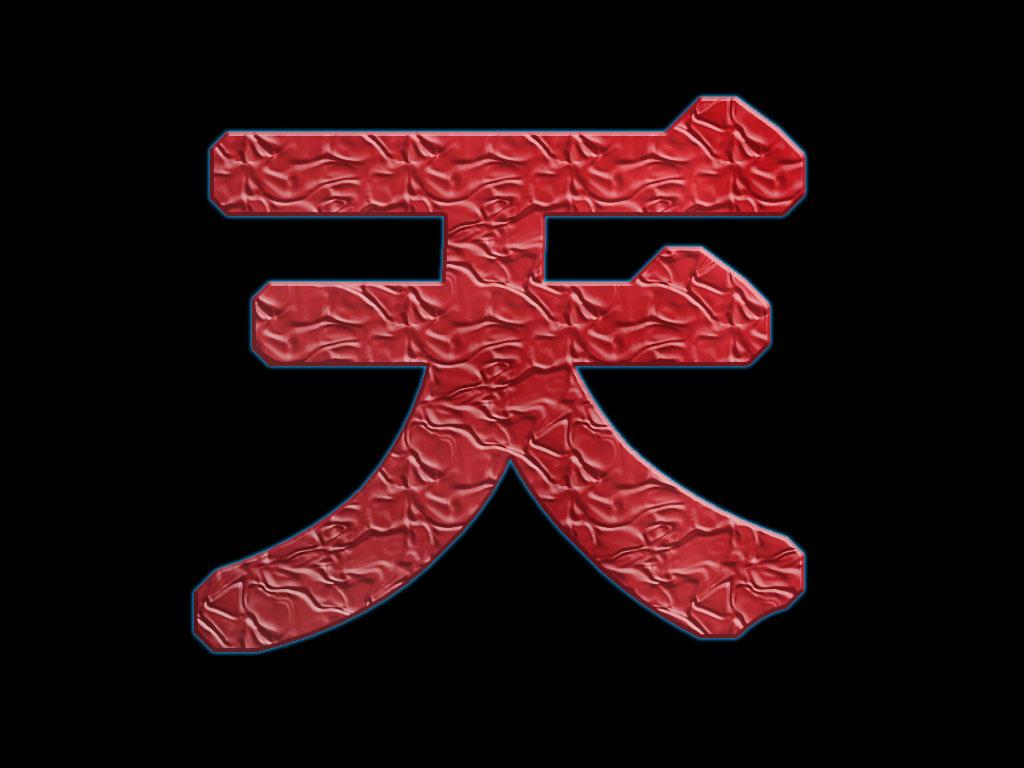 Large Pic Of The Ten Kanji Symbol That Appears On Akumas Back